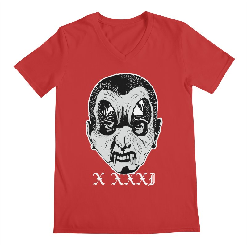 "X XXXI ""Vampire Kid"" Men's V-Neck by Cold Lantern Collection"