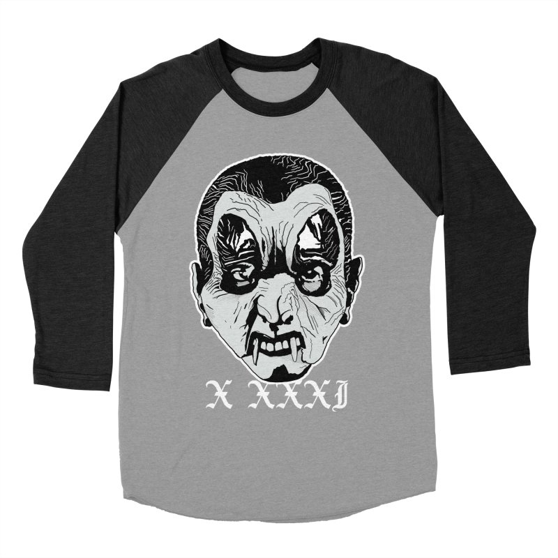 "X XXXI ""Vampire Kid"" Men's Baseball Triblend Longsleeve T-Shirt by Cold Lantern Collection"