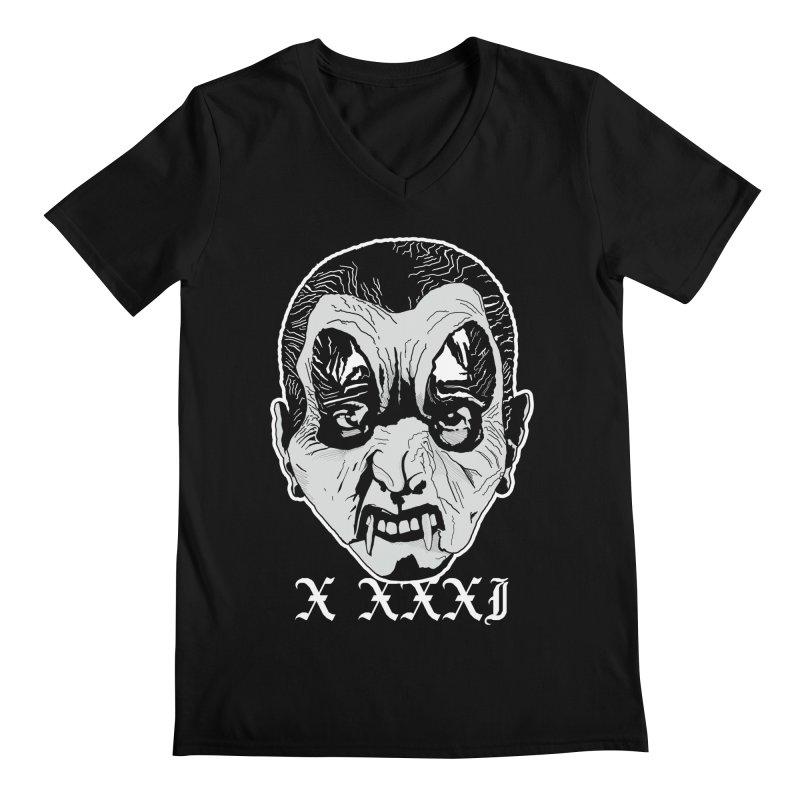 "X XXXI ""Vampire Kid"" Men's Regular V-Neck by Cold Lantern Collection"