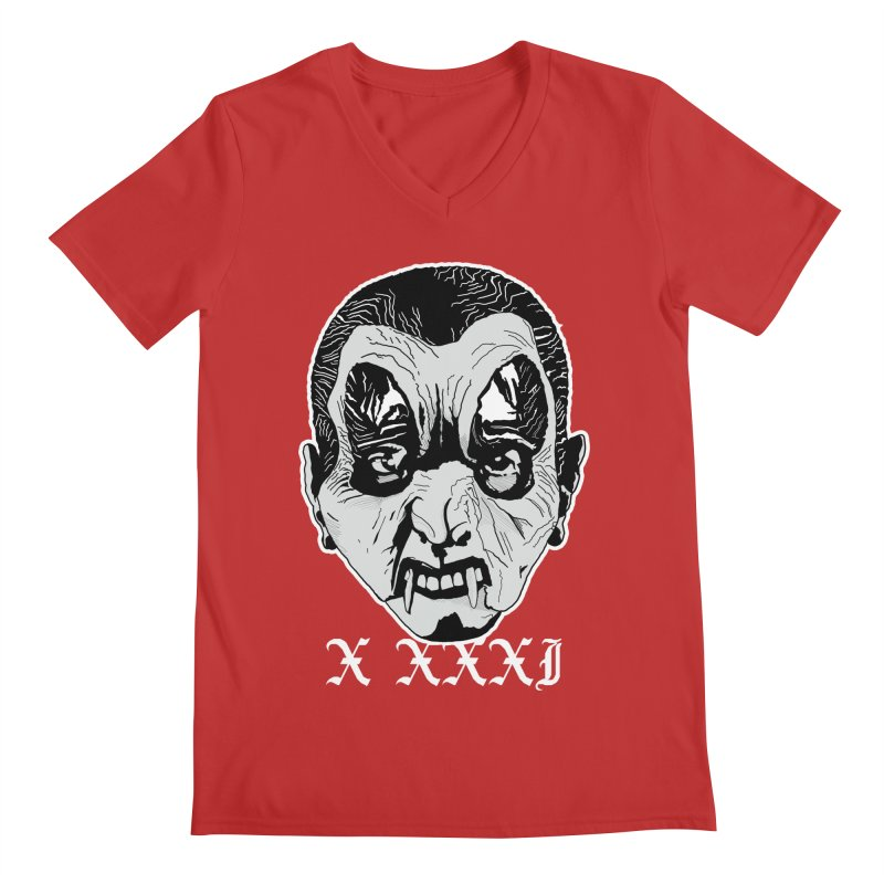 "X XXXI ""Vampire Kid"" Men's Regular V-Neck by Cold Lantern Collection"