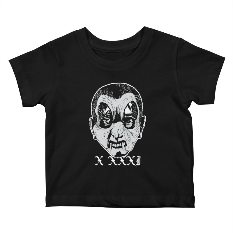 "X XXXI ""Vampire Kid"" Kids Baby T-Shirt by Cold Lantern Collection"