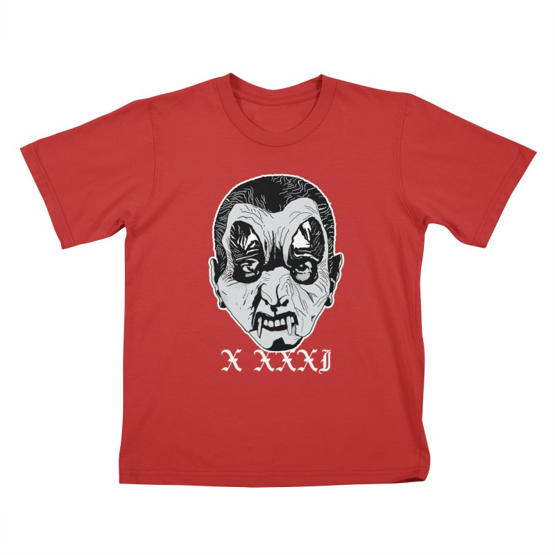 """X XXXI """"Vampire Kid"""" Kids T-Shirt by Cold Lantern Collection"""