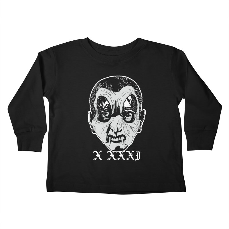 """X XXXI """"Vampire Kid"""" Kids Toddler Longsleeve T-Shirt by Cold Lantern Collection"""
