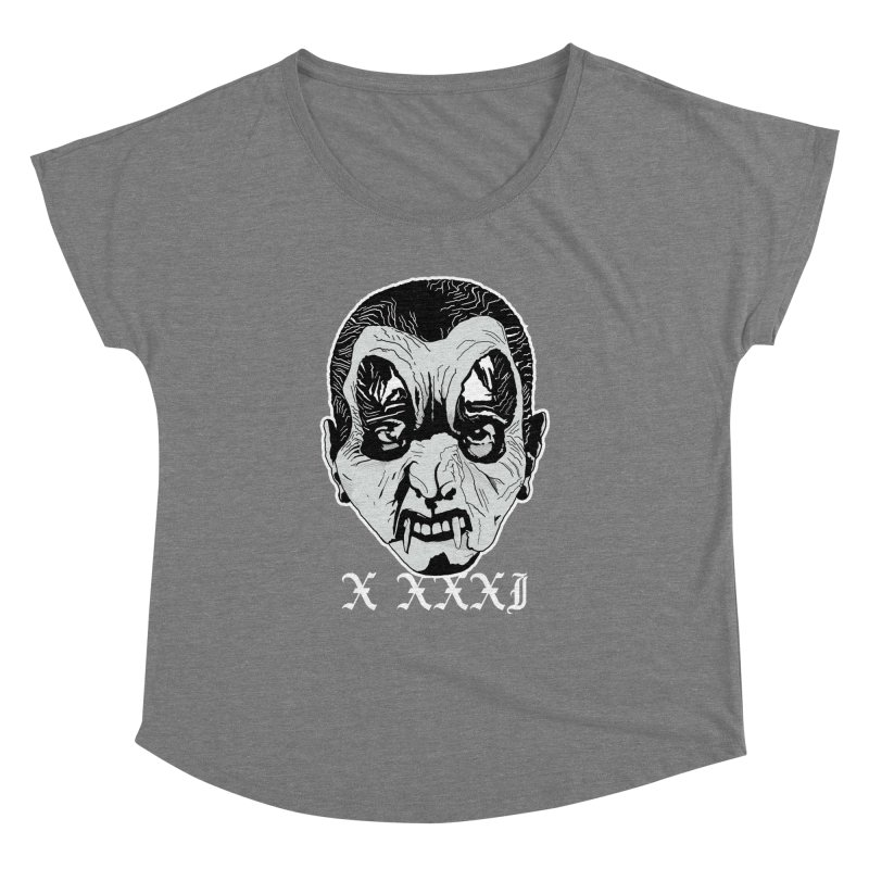 "X XXXI ""Vampire Kid"" Women's Dolman Scoop Neck by Cold Lantern Collection"