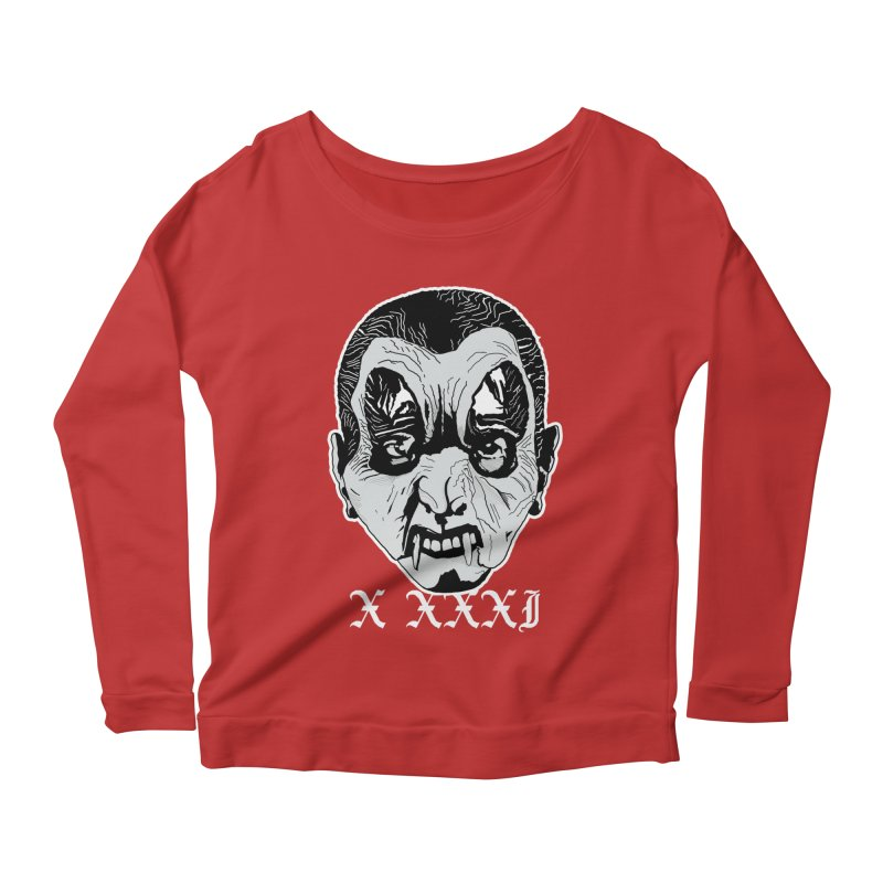 """X XXXI """"Vampire Kid"""" Women's Scoop Neck Longsleeve T-Shirt by Cold Lantern Collection"""