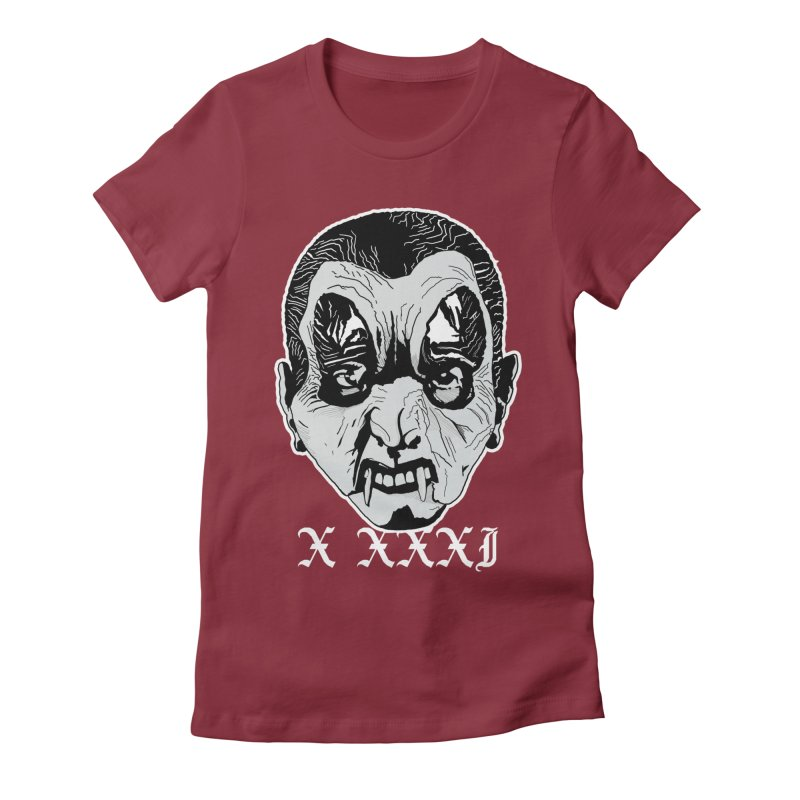 "X XXXI ""Vampire Kid"" Women's Fitted T-Shirt by Cold Lantern Collection"