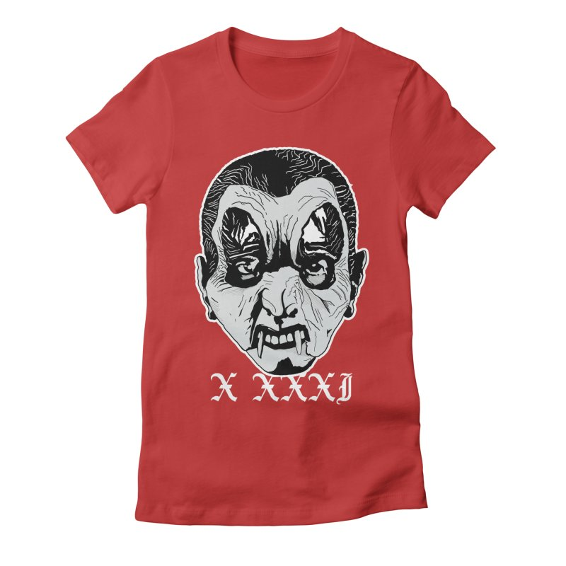 """X XXXI """"Vampire Kid"""" Women's Fitted T-Shirt by Cold Lantern Collection"""