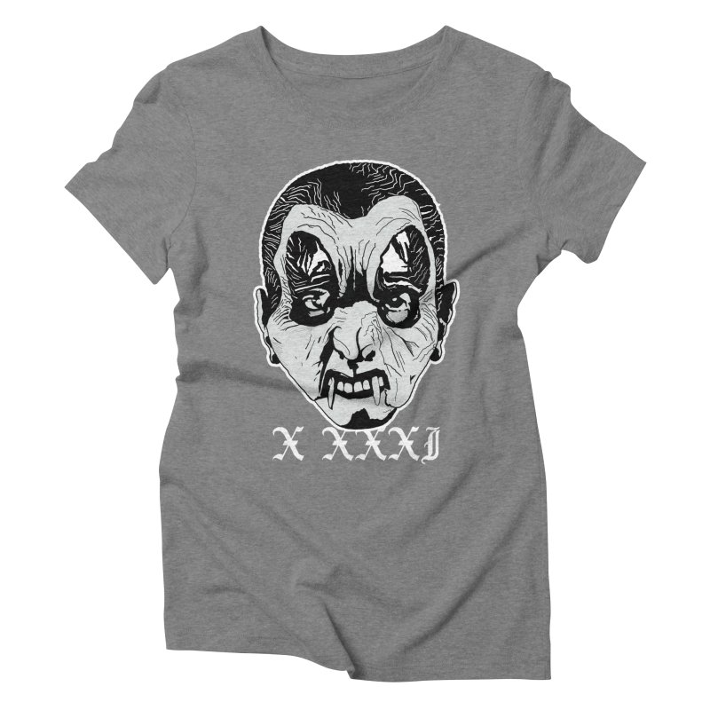 """X XXXI """"Vampire Kid"""" Women's Triblend T-Shirt by Cold Lantern Collection"""