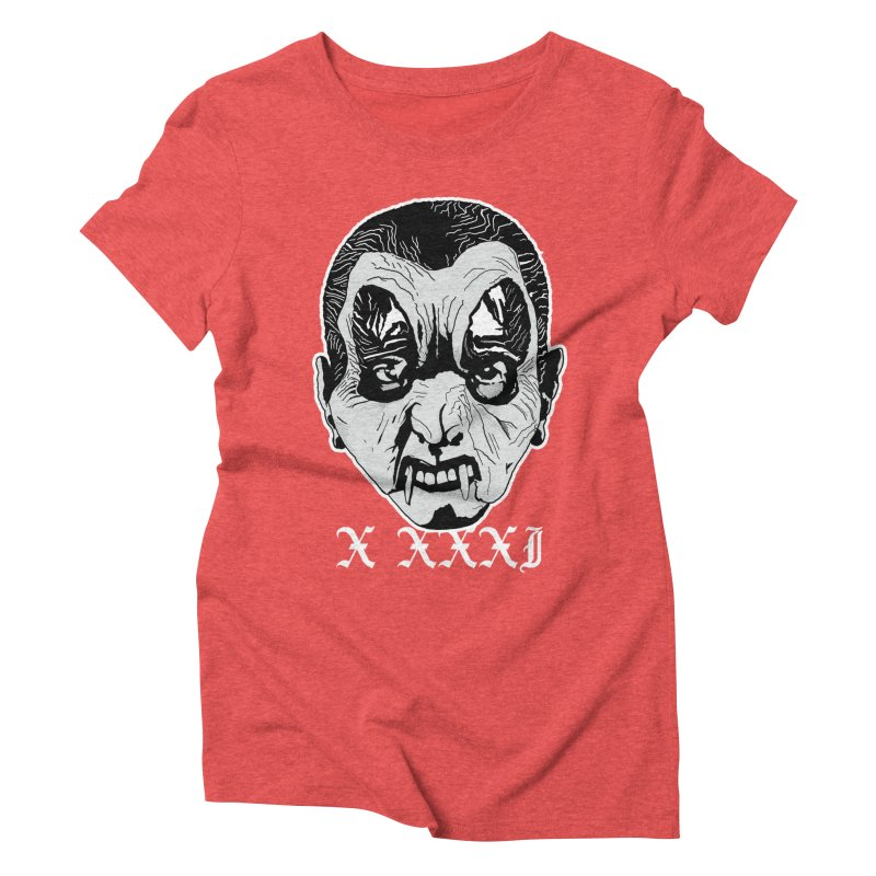 "X XXXI ""Vampire Kid"" Women's Triblend T-Shirt by Cold Lantern Collection"