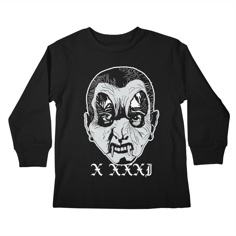 """X XXXI """"Vampire Kid"""" Kids Longsleeve T-Shirt by Cold Lantern Collection"""
