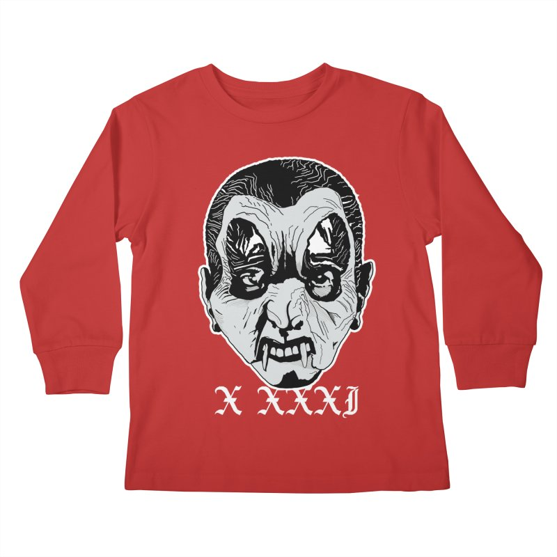"X XXXI ""Vampire Kid"" Kids Longsleeve T-Shirt by Cold Lantern Collection"