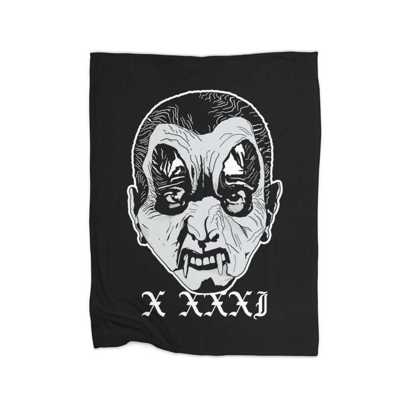 "X XXXI ""Vampire Kid"" Home Fleece Blanket Blanket by Cold Lantern Design"