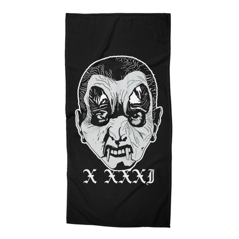 """X XXXI """"Vampire Kid"""" Accessories Beach Towel by Cold Lantern Collection"""