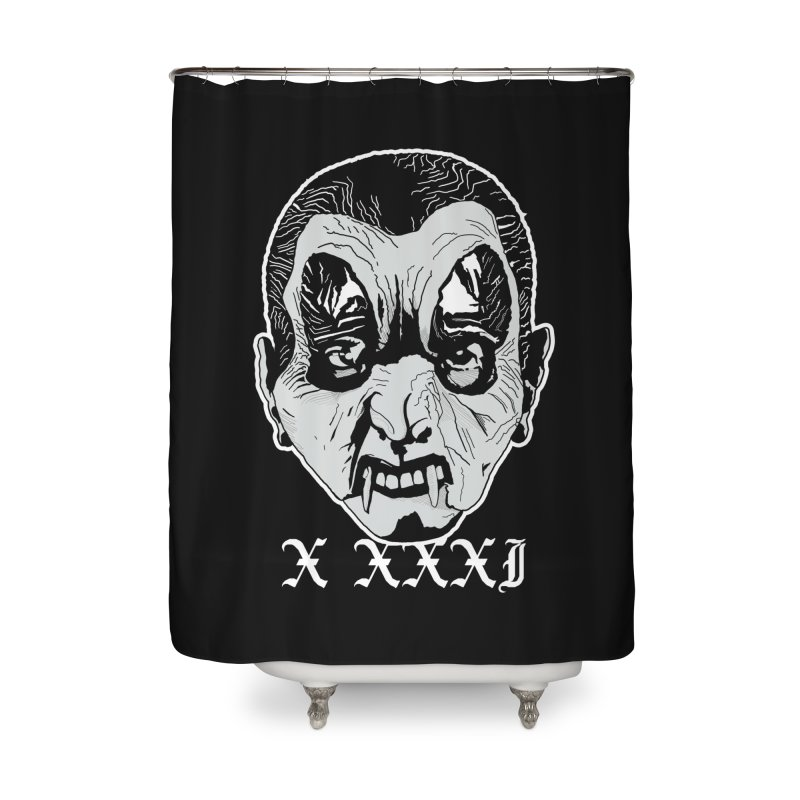 "X XXXI ""Vampire Kid"" Home Shower Curtain by Cold Lantern Collection"