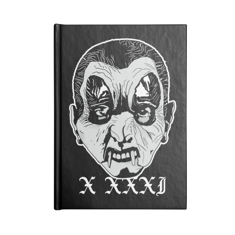 "X XXXI ""Vampire Kid"" Accessories Blank Journal Notebook by Cold Lantern Design"