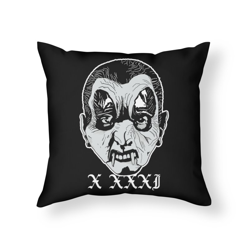 """X XXXI """"Vampire Kid"""" Home Throw Pillow by Cold Lantern Collection"""