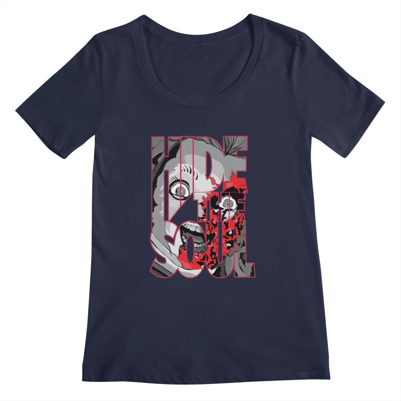 Hide The Soul Women's Regular Scoop Neck by Cold Lantern Collection