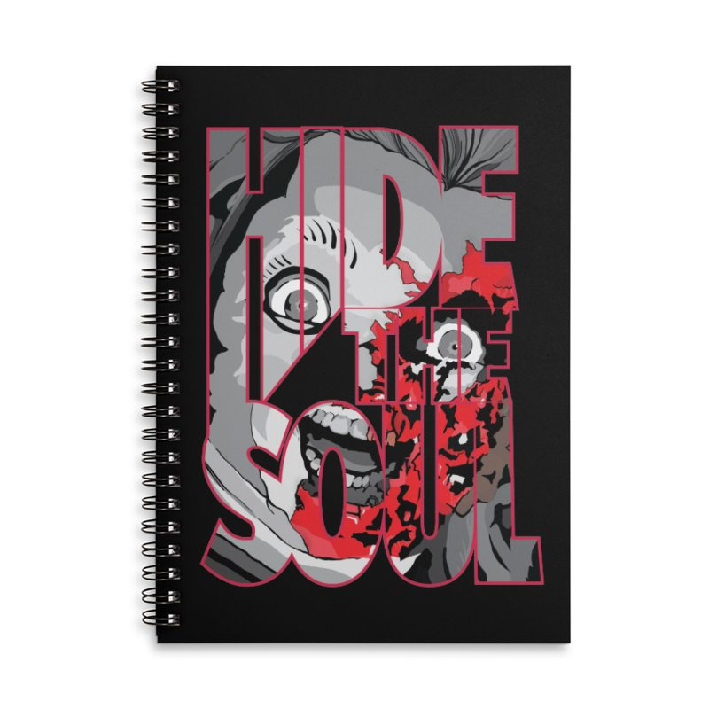 Hide The Soul Accessories Lined Spiral Notebook by Cold Lantern Design