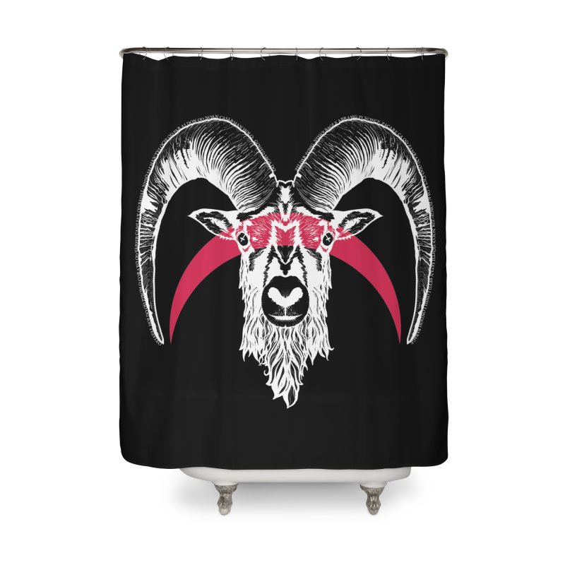 Black XI Home Shower Curtain by Cold Lantern Collection