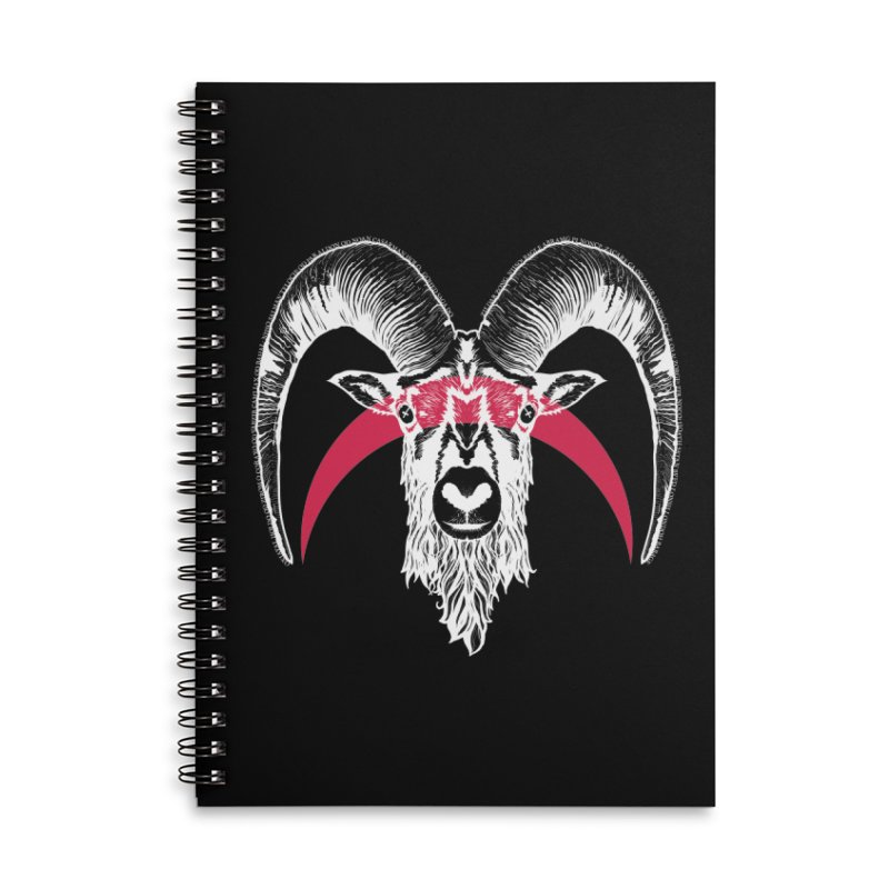 Black XI Accessories Lined Spiral Notebook by Cold Lantern Design