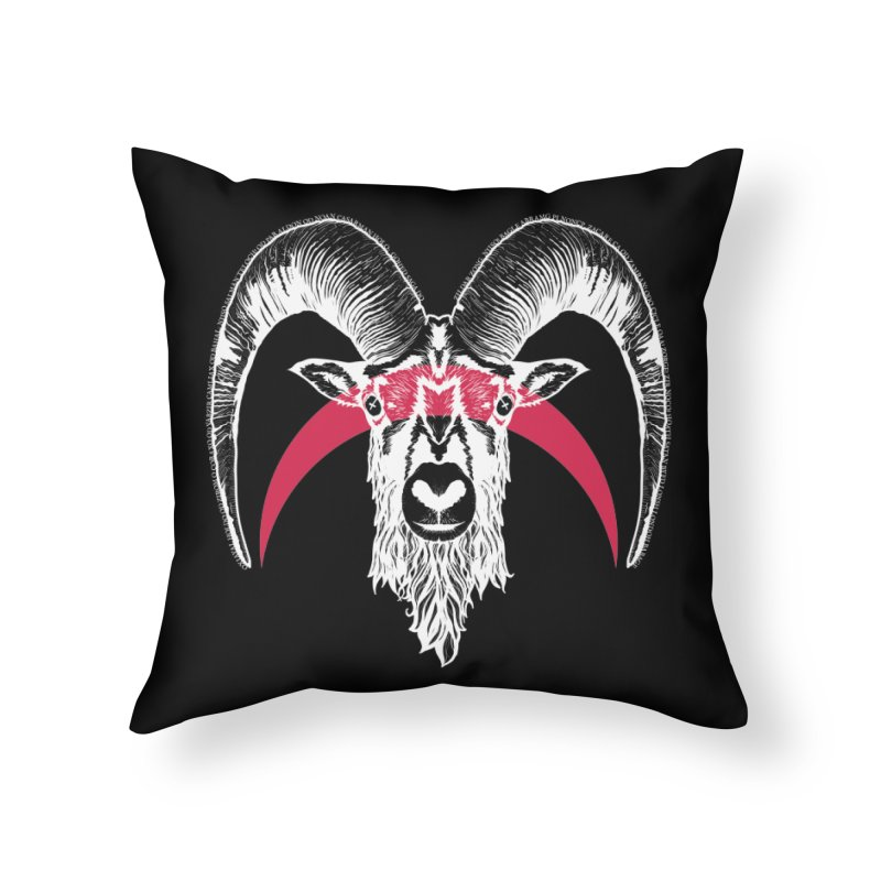 Black XI Home Throw Pillow by Cold Lantern Collection