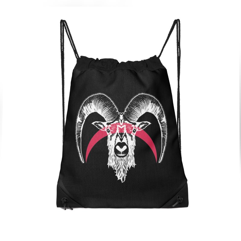 Black XI Accessories Drawstring Bag Bag by Cold Lantern Collection