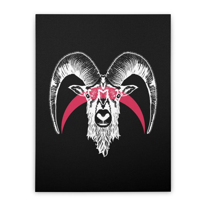 Black XI Home Stretched Canvas by Cold Lantern Design