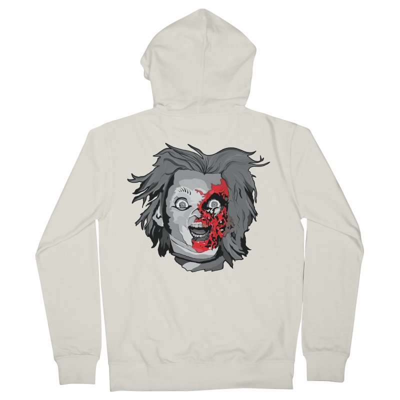 Hide the Soul (CHUCKY ONLY) Men's French Terry Zip-Up Hoody by Cold Lantern Collection