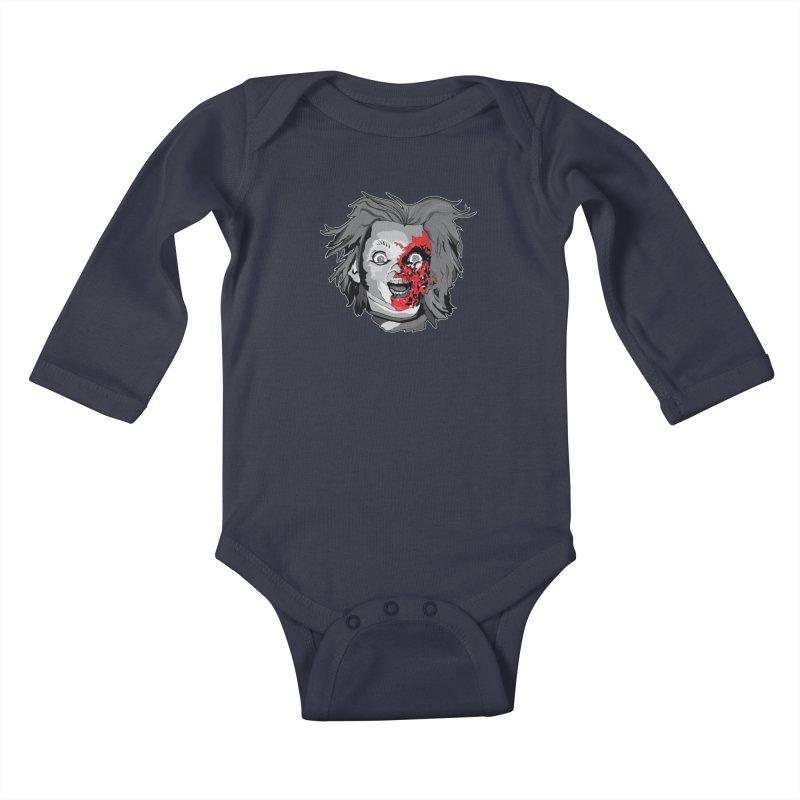 Hide the Soul (CHUCKY ONLY) Kids Baby Longsleeve Bodysuit by Cold Lantern Design