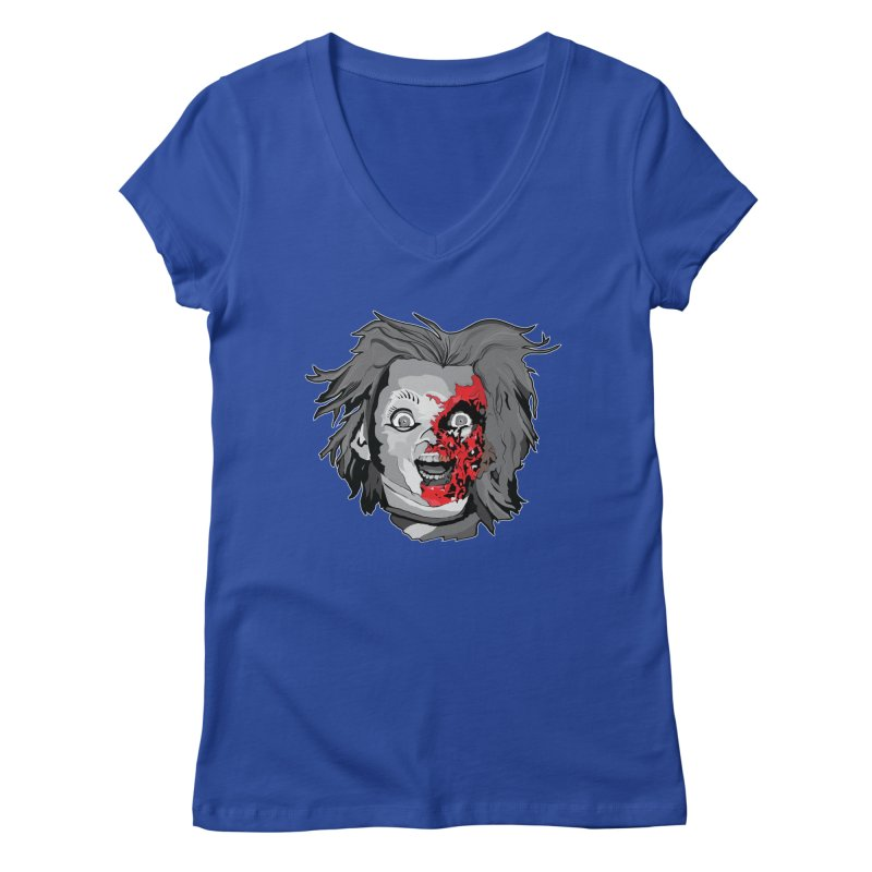 Hide the Soul (CHUCKY ONLY) Women's Regular V-Neck by Cold Lantern Collection