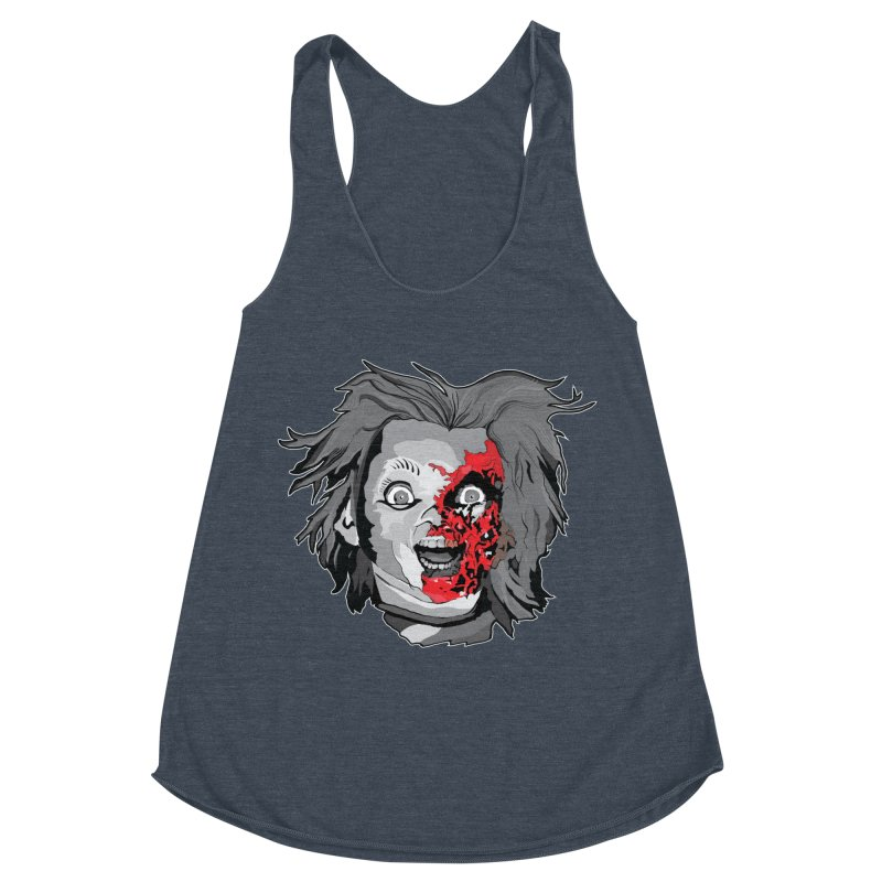Hide the Soul (CHUCKY ONLY) Women's Racerback Triblend Tank by Cold Lantern Collection
