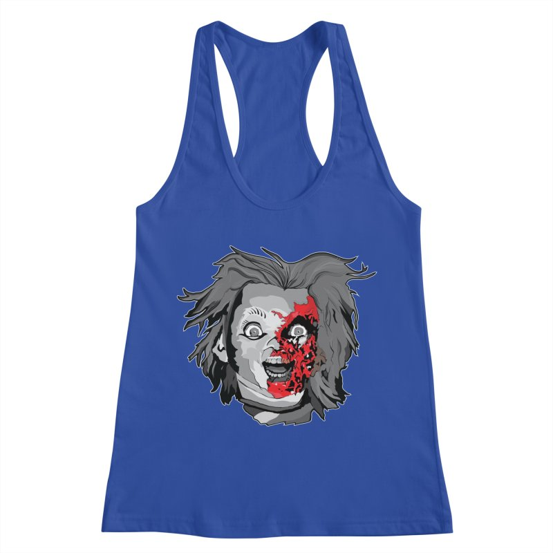 Hide the Soul (CHUCKY ONLY) Women's Racerback Tank by Cold Lantern Collection