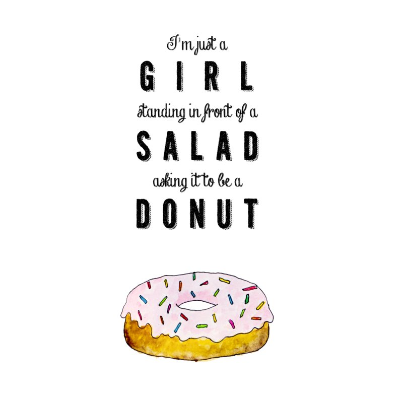 Girl and a donut None  by Colette's Shop