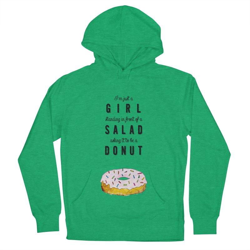 Girl and a donut Women's Pullover Hoody by Colette's Shop