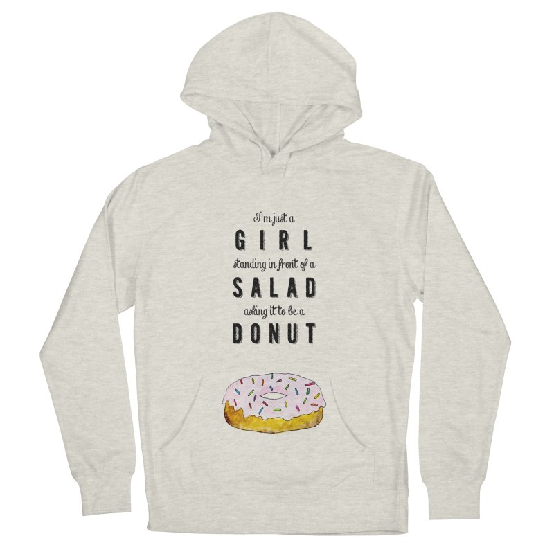 Girl and a donut Men's Pullover Hoody by Colette's Shop