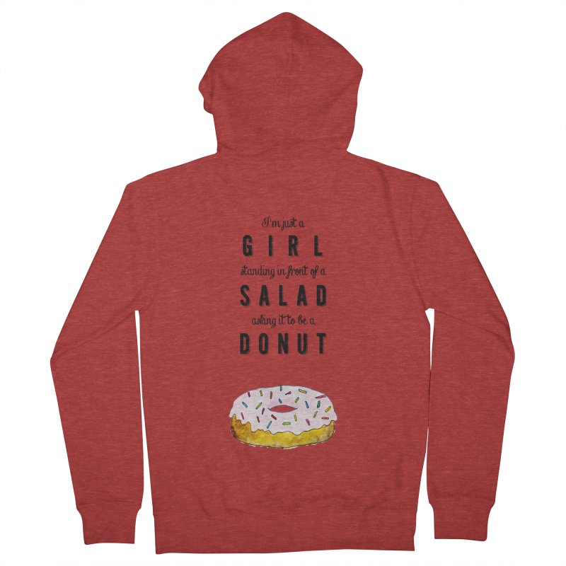 Girl and a donut Women's Zip-Up Hoody by Colette's Shop