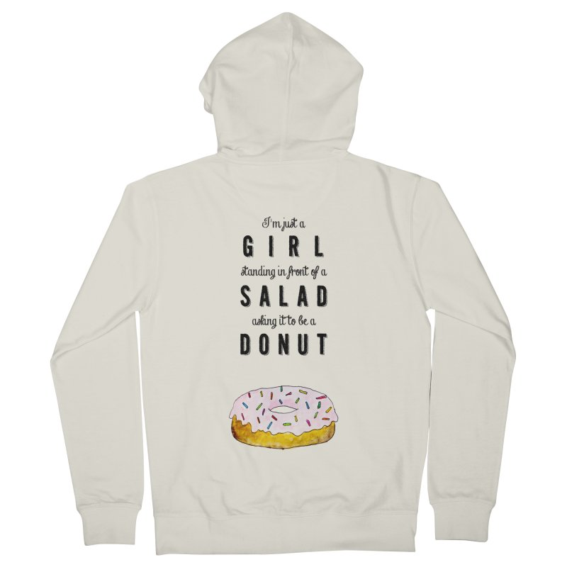 Girl and a donut Men's French Terry Zip-Up Hoody by Colette's Shop