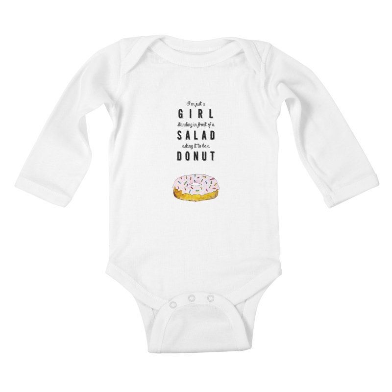 Girl and a donut Kids Baby Longsleeve Bodysuit by Colette's Shop