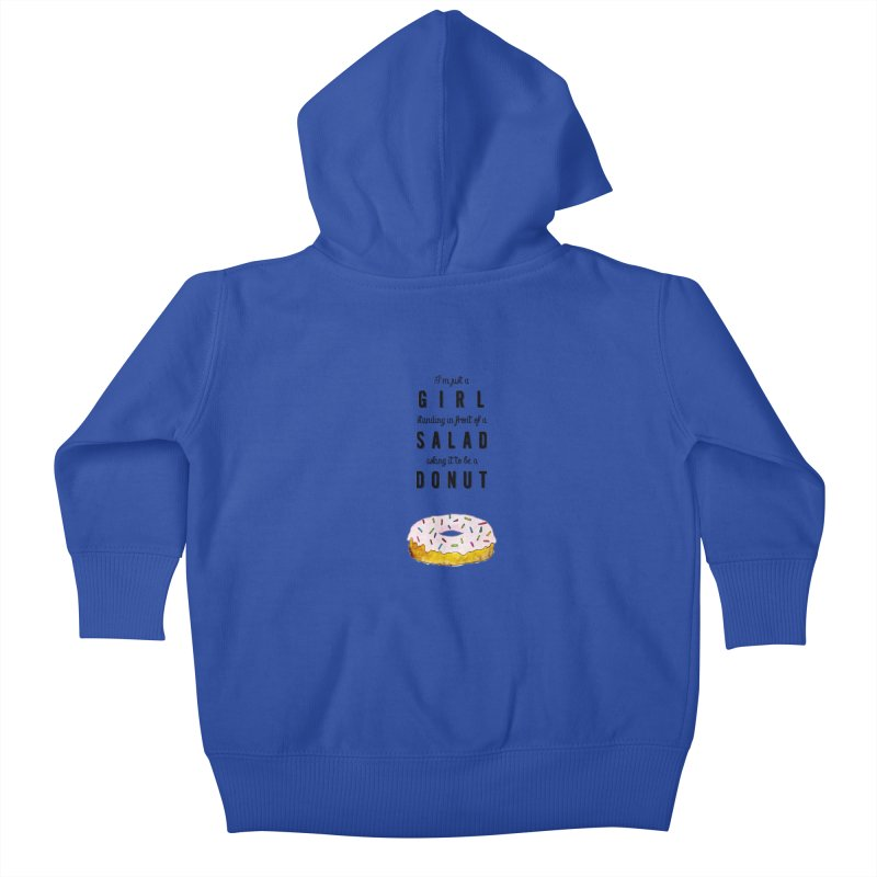 Girl and a donut Kids Baby Zip-Up Hoody by Colette's Shop