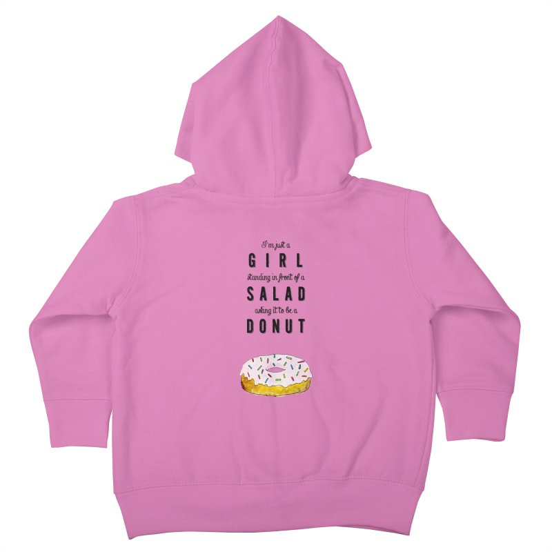 Girl and a donut Kids Toddler Zip-Up Hoody by Colette's Shop
