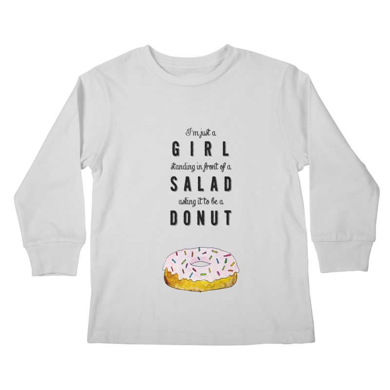 Girl and a donut Kids Longsleeve T-Shirt by Colette's Shop
