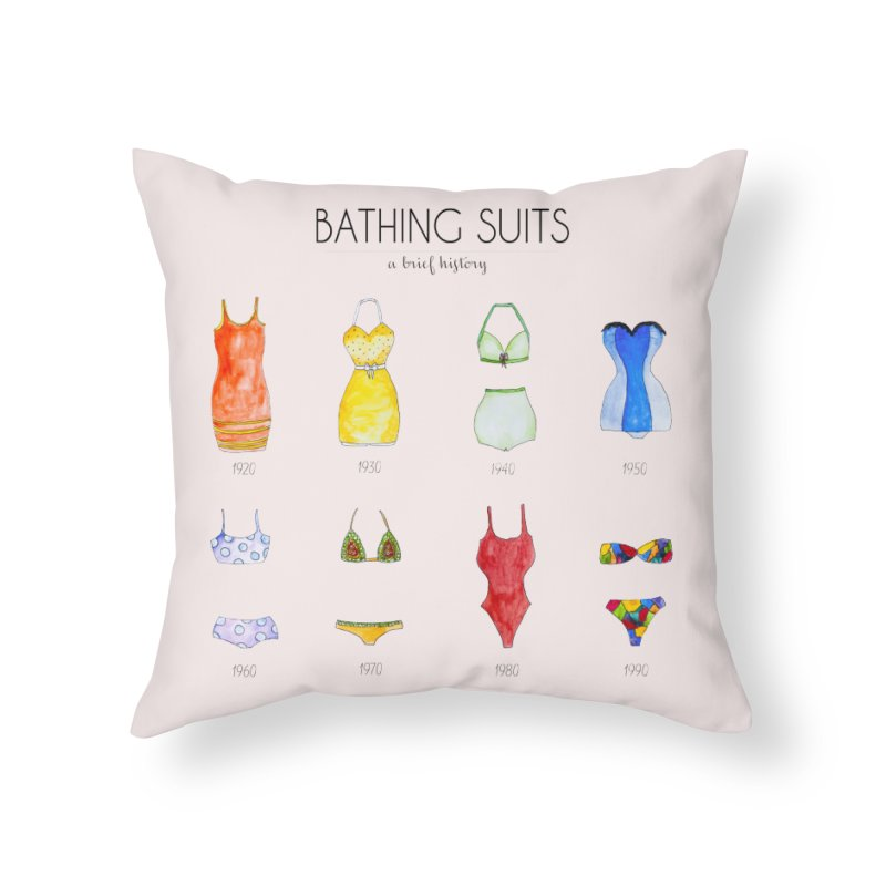Bathing suits Home Throw Pillow by Colette's Shop