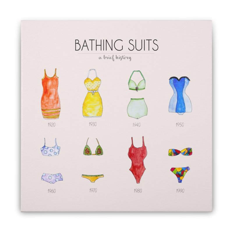 Bathing suits Home Stretched Canvas by Colette's Shop