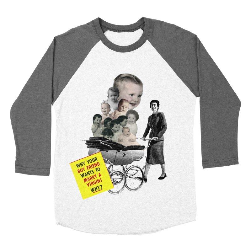 Marry a virgin Women's Baseball Triblend T-Shirt by Colette's Shop
