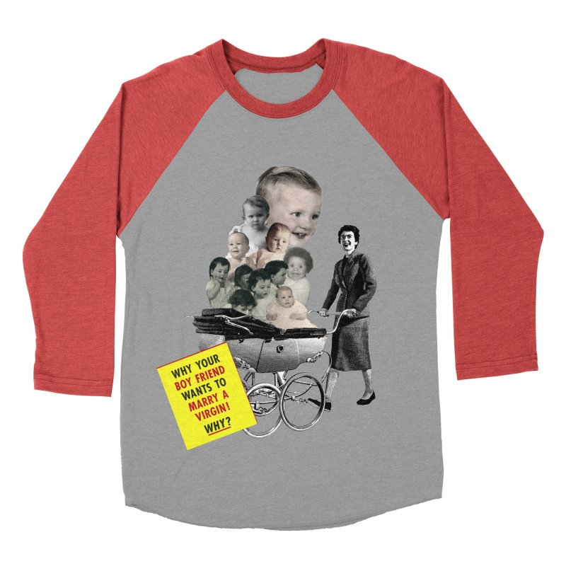 Marry a virgin Men's Baseball Triblend T-Shirt by Colette's Shop