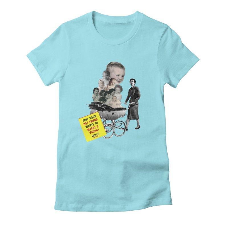 Marry a virgin Women's Fitted T-Shirt by Colette's Shop