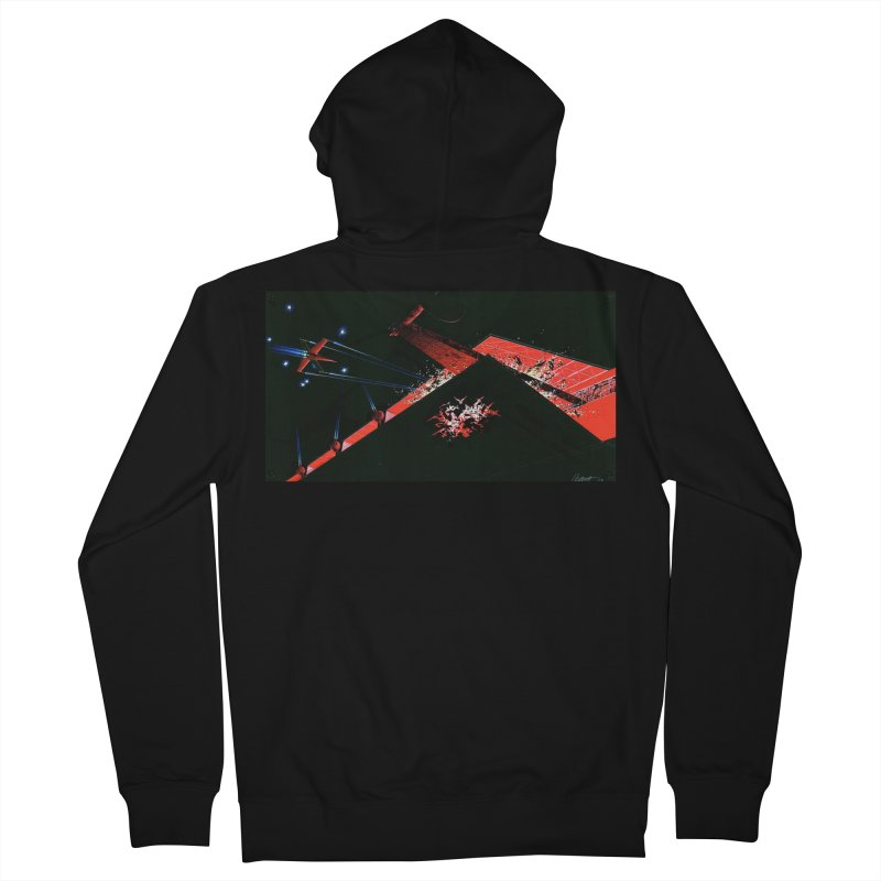 Spaceship Concept 1 Men's Zip-Up Hoody by Colin Cantwell