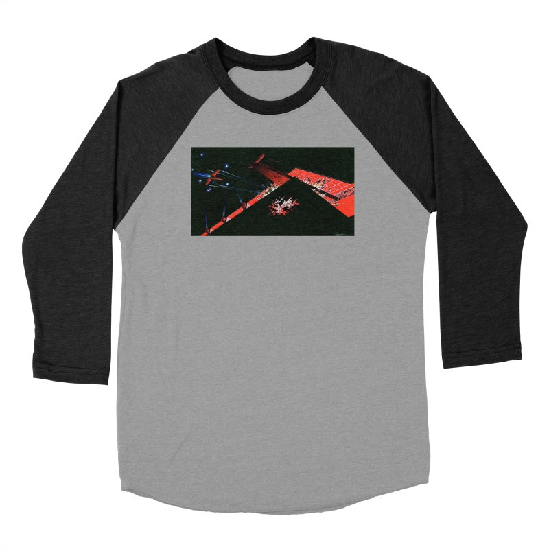 Spaceship Concept 1 Women's Baseball Triblend Longsleeve T-Shirt by Colin Cantwell