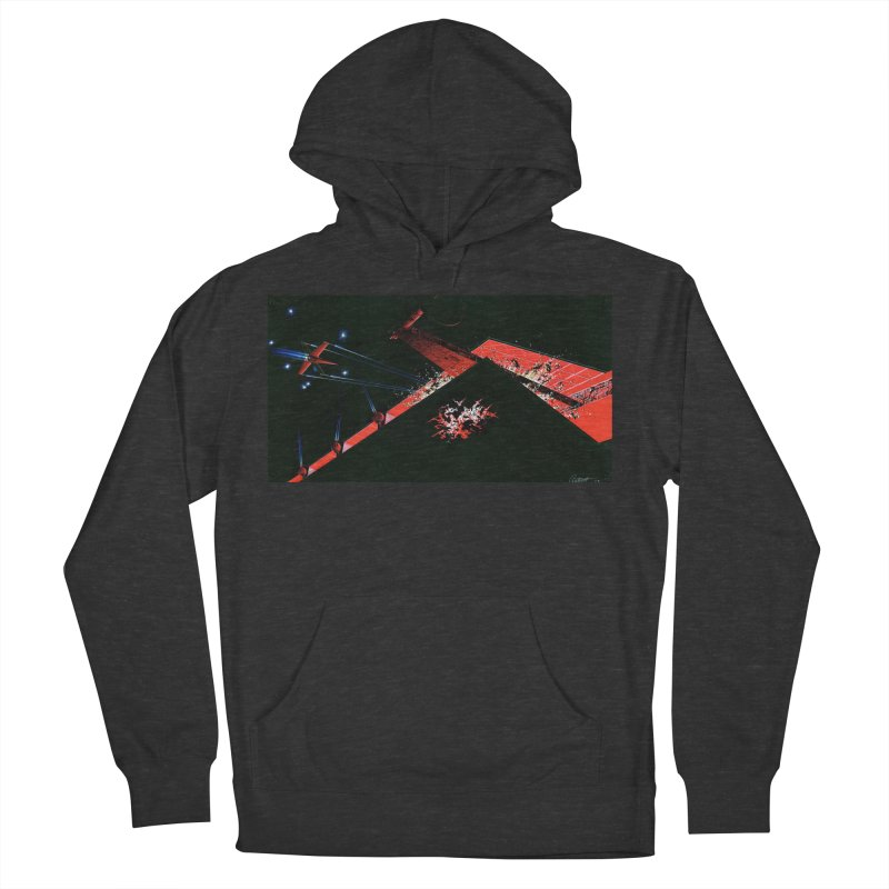 Spaceship Concept 1 Women's French Terry Pullover Hoody by Colin Cantwell