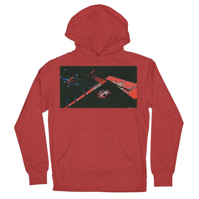 Spaceship Concept 1 Men's French Terry Pullover Hoody by Colin Cantwell